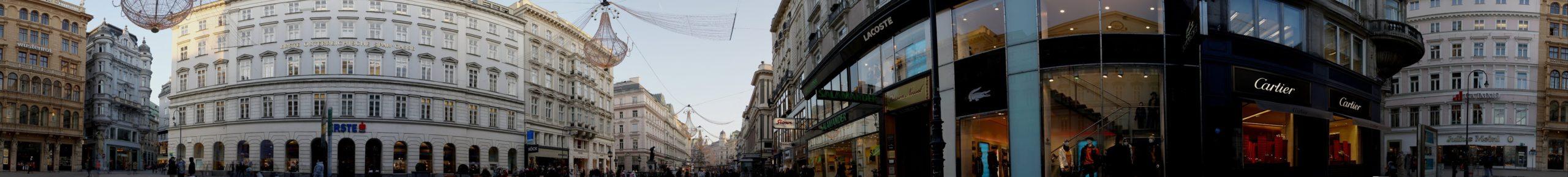 Wien Panorama Graben