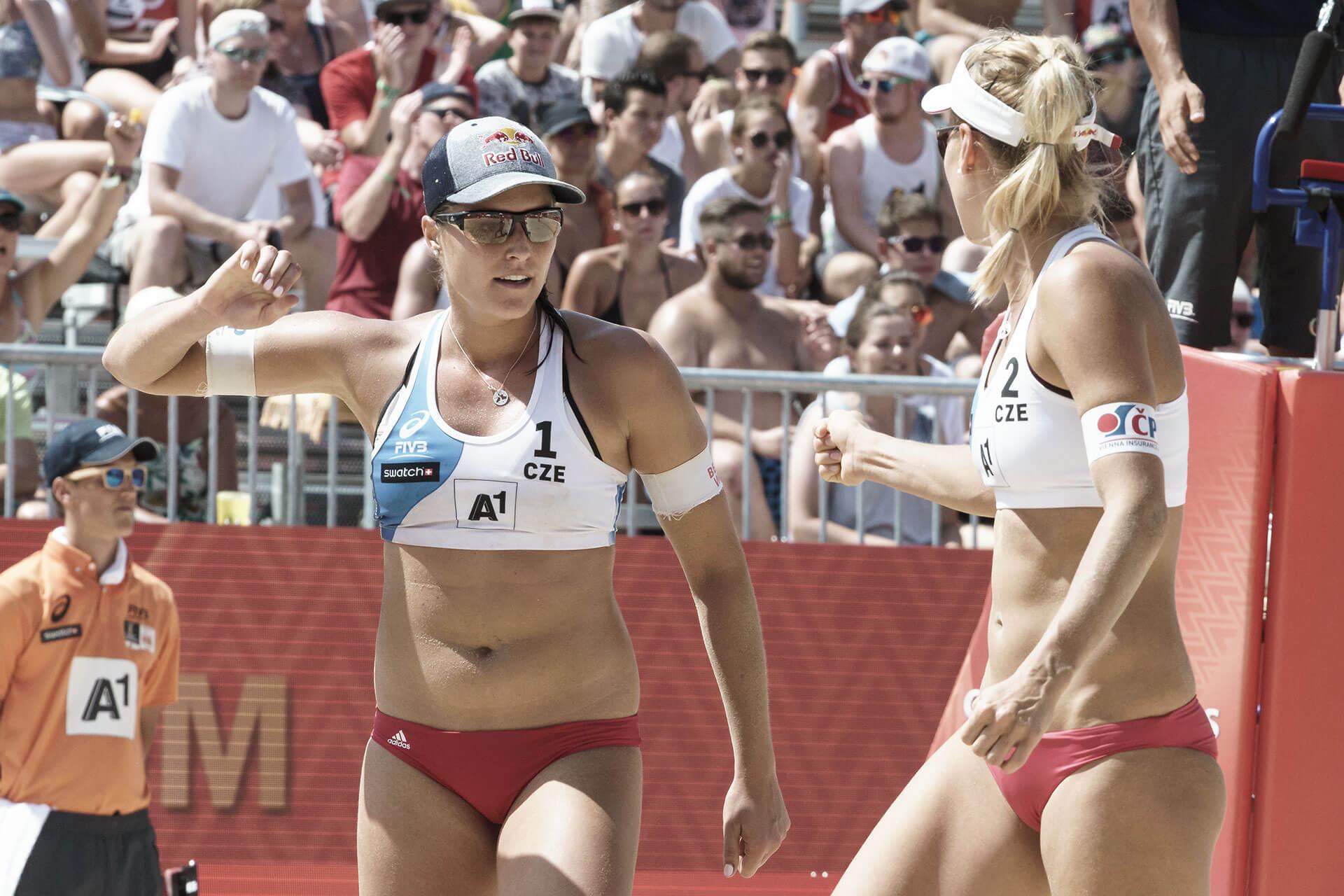 Beachvolleyball WM Markéta Sluková Barbora Hermannová
